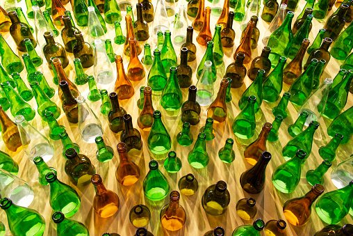 Glass bottles of all shapes and sizes